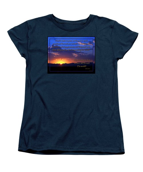 Easter Sunrise - He Is Risen Women's T-Shirt (Standard Cut) by Glenn McCarthy Art and Photography