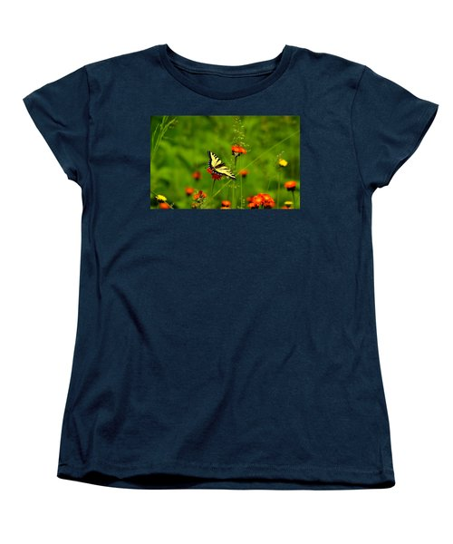 Eastern Tiger Swallowtail  Women's T-Shirt (Standard Cut) by Debbie Oppermann