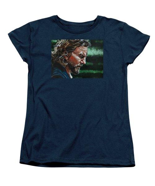 Eddie Vedder Women's T-Shirt (Standard Cut) by Joel Tesch