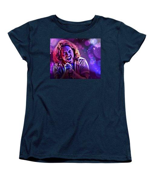 Eddie Vedder Portrait Women's T-Shirt (Standard Cut) by Scott Wallace
