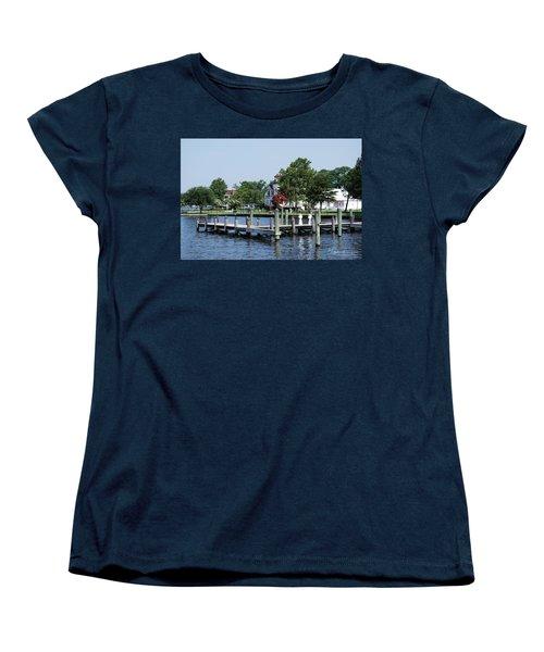 Edenton Waterfront Women's T-Shirt (Standard Cut) by Gordon Mooneyhan