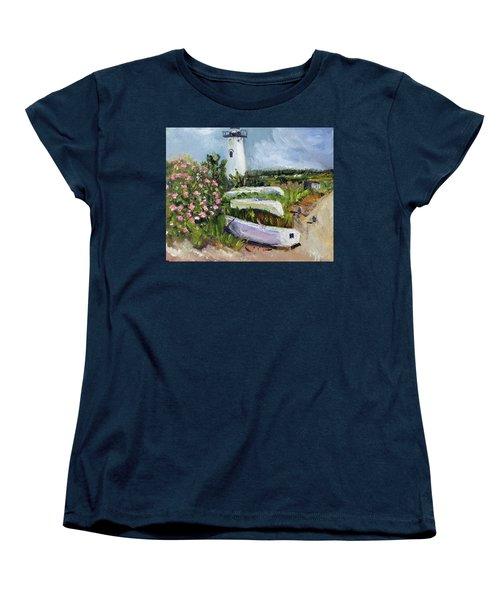 Edgartown Light And Her Entourage Women's T-Shirt (Standard Cut)