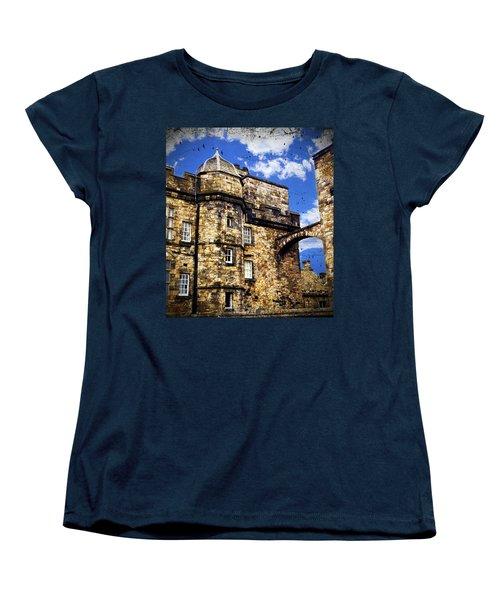Edinburgh Castle Women's T-Shirt (Standard Cut) by Judi Saunders