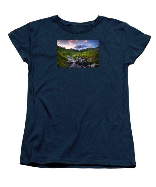 Women's T-Shirt (Standard Cut) featuring the photograph Edith Creek Sunset by Dan Mihai