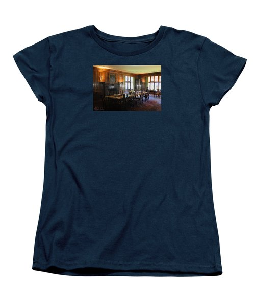 Women's T-Shirt (Standard Cut) featuring the photograph Edsel And Eleanor Ford Dining Room by Michael Rucker