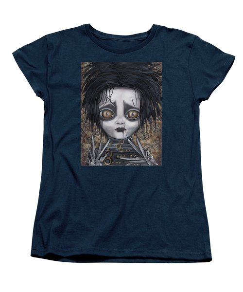 Edward Scissorhands Women's T-Shirt (Standard Cut) by Abril Andrade Griffith