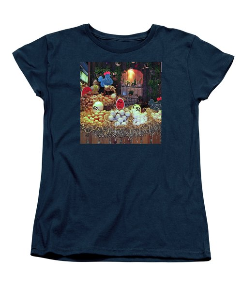 Women's T-Shirt (Standard Cut) featuring the photograph Eggs In Market by Haleh Mahbod