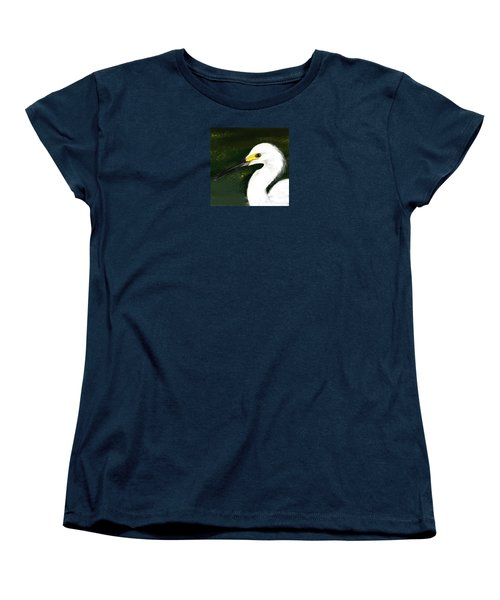 Egret Women's T-Shirt (Standard Cut) by Beth Klock