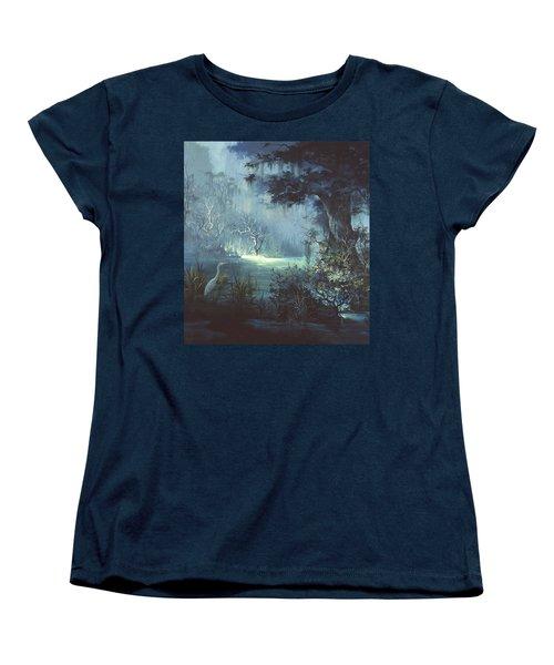 Egret In The Shadows Women's T-Shirt (Standard Cut)