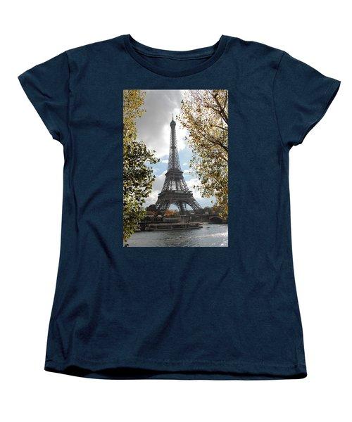 Women's T-Shirt (Standard Cut) featuring the photograph Eiffel From Avenue De New York by Christopher Kirby