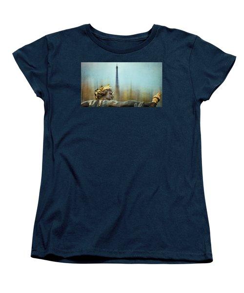 Eiffel Tower 1 Women's T-Shirt (Standard Cut) by Marty Garland