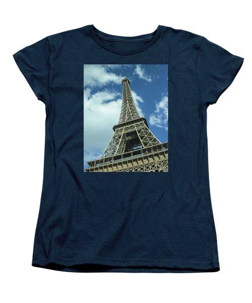 Women's T-Shirt (Standard Cut) featuring the photograph Eiffel Tower by Allen Sheffield