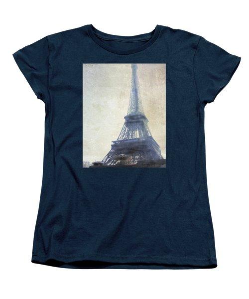 Eiffel Tower Women's T-Shirt (Standard Cut) by Catherine Alfidi