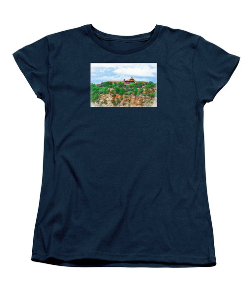 Women's T-Shirt (Standard Cut) featuring the digital art El Tovar At The Grand Canyon by Kirt Tisdale