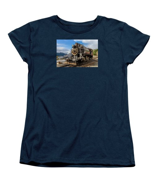 Women's T-Shirt (Standard Cut) featuring the photograph Elbe Steam Engine 17 - 2 by Rob Green