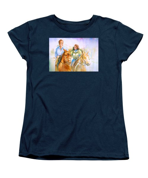 Eleanor And George Women's T-Shirt (Standard Cut) by Patricia Schneider Mitchell