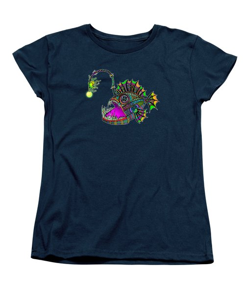 Women's T-Shirt (Standard Cut) featuring the drawing Electric Angler Fish by Tammy Wetzel