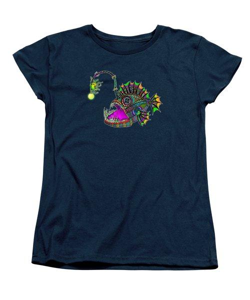 Electric Angler Fish Women's T-Shirt (Standard Cut) by Tammy Wetzel