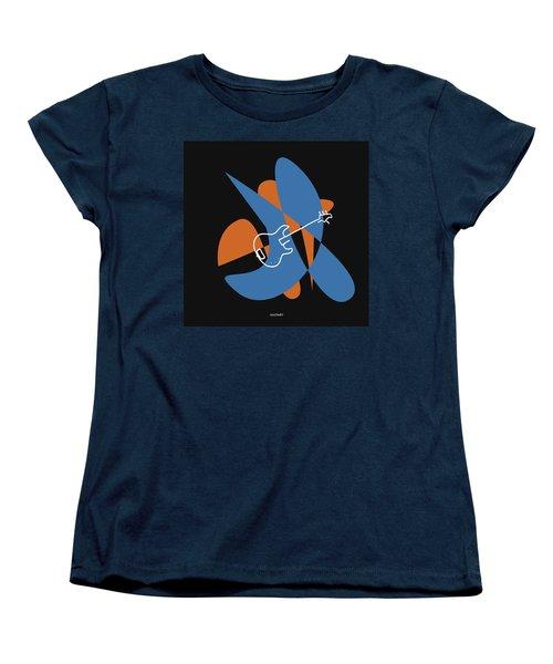 Electric Bass In Blue Women's T-Shirt (Standard Cut) by David Bridburg