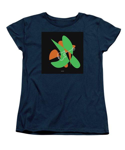 Electric Bass In Green Women's T-Shirt (Standard Cut) by David Bridburg