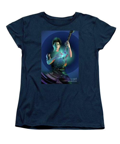 Women's T-Shirt (Standard Cut) featuring the digital art Electric Blue by Shadowlea Is