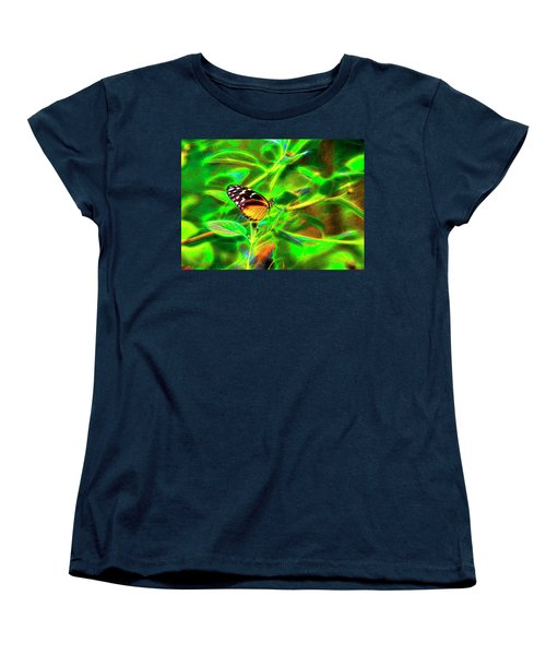 Electric Butterfly Women's T-Shirt (Standard Cut) by James Steele