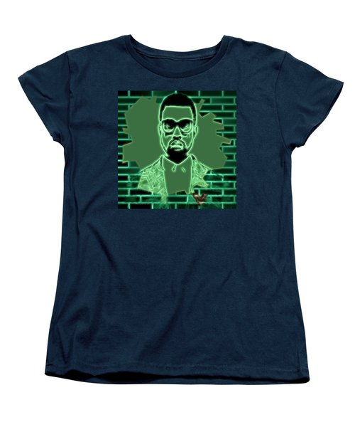 Electric Kanye West Graphic Women's T-Shirt (Standard Cut) by Dan Sproul