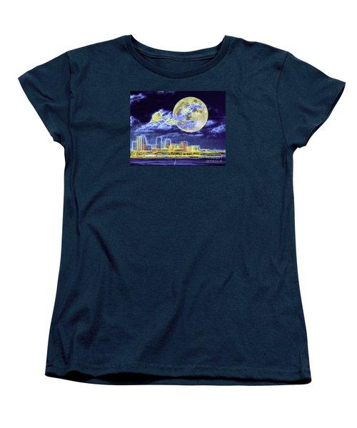 Women's T-Shirt (Standard Cut) featuring the photograph Electric Tampa by Ken Frischkorn
