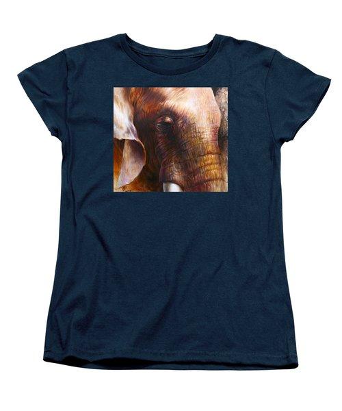 Elephant Empathy Women's T-Shirt (Standard Cut) by Vali Irina Ciobanu
