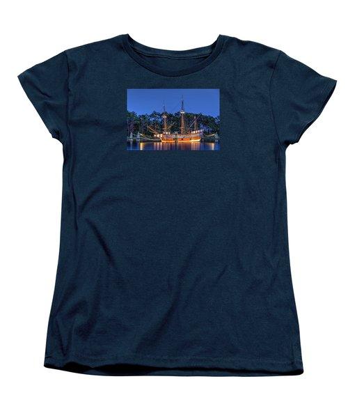 Elizabeth II At Dock Women's T-Shirt (Standard Cut) by Greg Reed
