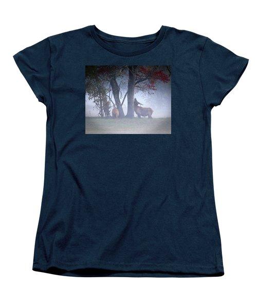 Elk Neck Scratch Women's T-Shirt (Standard Cut) by Lamarre Labadie