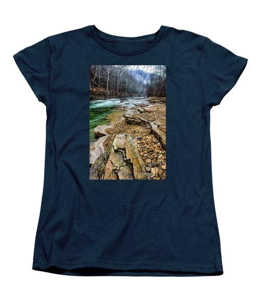 Women's T-Shirt (Standard Cut) featuring the photograph Elk River In The Rain by Thomas R Fletcher