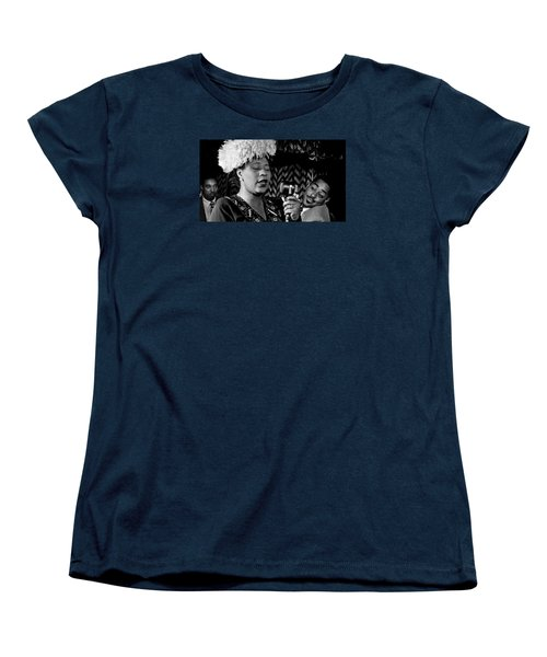 Ella Fitzgerald Dizzy Gillespie And Ray Brown William Gottlieb Photo Nyc 1947-2015 Women's T-Shirt (Standard Cut) by David Lee Guss
