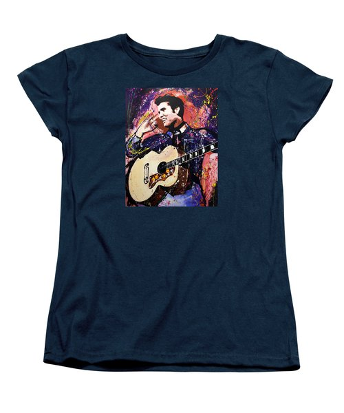 Elvis Presley Women's T-Shirt (Standard Cut) by Richard Day