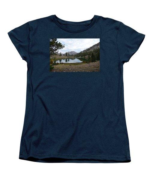 Women's T-Shirt (Standard Cut) featuring the photograph Jarbidge Wilderness Emerald Lake by Jenessa Rahn