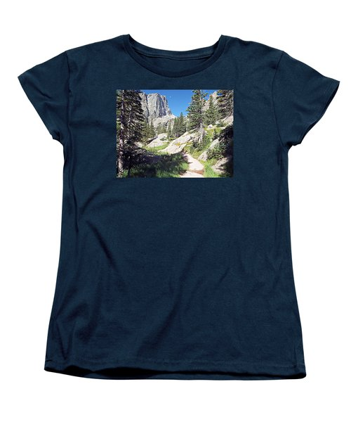 Women's T-Shirt (Standard Cut) featuring the photograph Emerald Lake Trail - Rocky Mountain National Park by Joseph Hendrix
