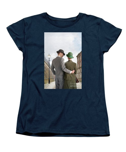 Empty Street With Victorian Buildings Women's T-Shirt (Standard Cut) by Lee Avison
