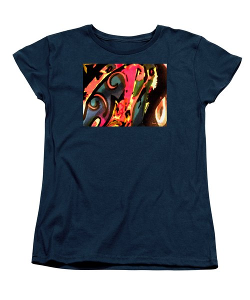 Women's T-Shirt (Standard Cut) featuring the mixed media En Joy by Sandi OReilly
