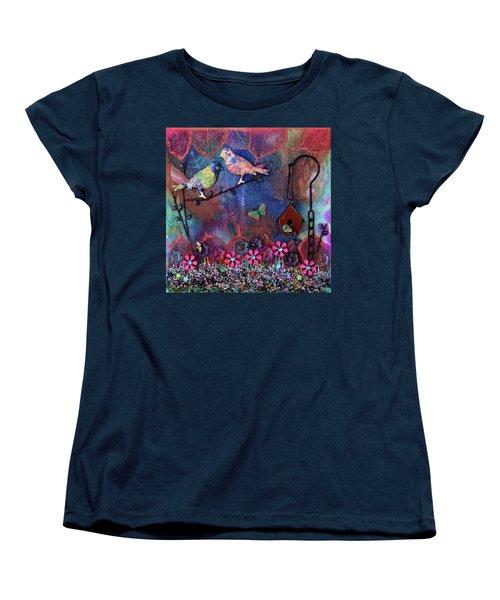 Enchanted Patchwork Women's T-Shirt (Standard Cut) by Donna Blackhall