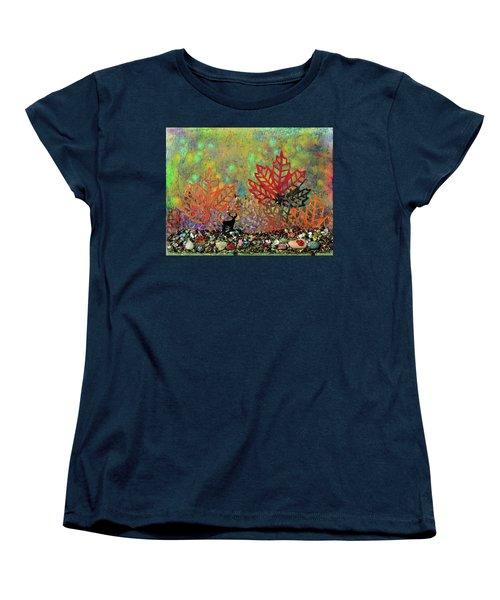 Enchanted Pathways Women's T-Shirt (Standard Cut) by Donna Blackhall