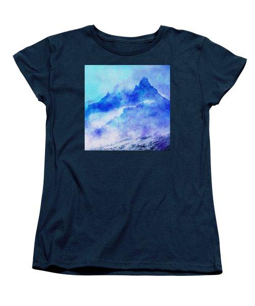 Women's T-Shirt (Standard Cut) featuring the digital art Enchanted Scenery #4 by Klara Acel