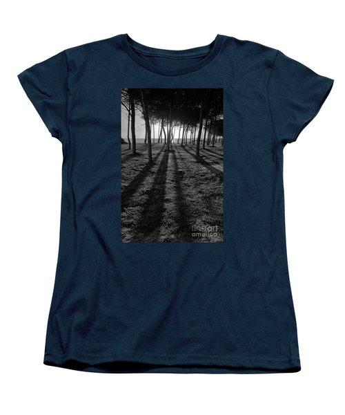 Enchanted Sunset In Monochrome Women's T-Shirt (Standard Cut) by Angelo DeVal