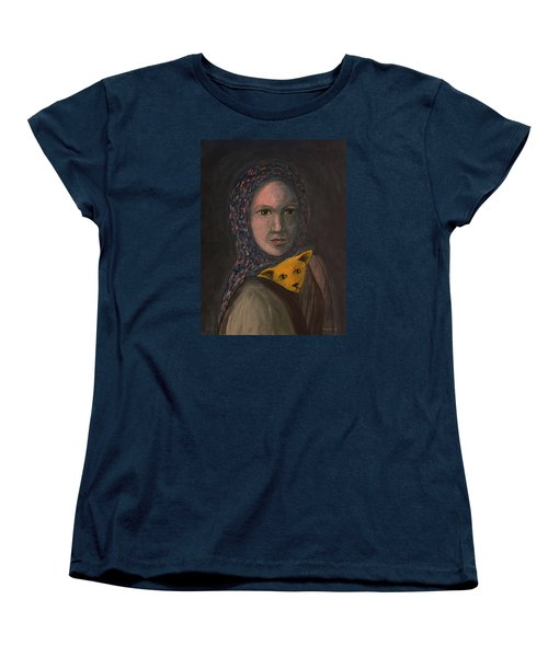 Women's T-Shirt (Standard Cut) featuring the painting Encountering I Am by Tone Aanderaa