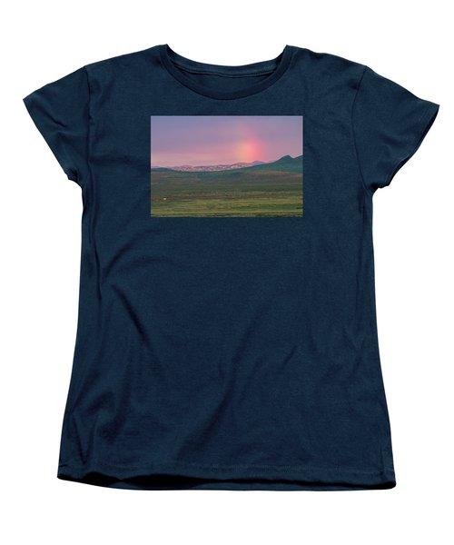 Women's T-Shirt (Standard Cut) featuring the photograph End Of Rainbow by Hitendra SINKAR