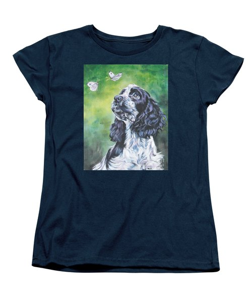 English Cocker Spaniel  Women's T-Shirt (Standard Cut) by Lee Ann Shepard
