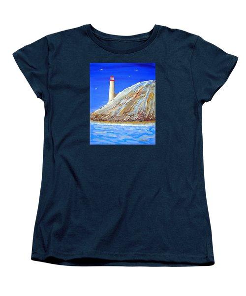 Entering The Harbor Women's T-Shirt (Standard Cut) by J R Seymour