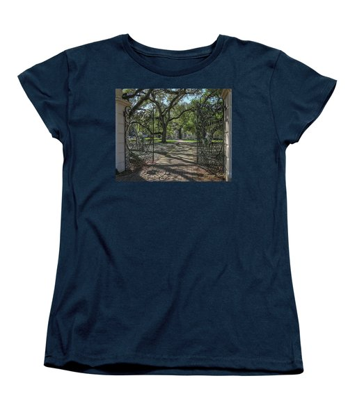 Women's T-Shirt (Standard Cut) featuring the photograph Entrance Gate To Ul Alum House by Gregory Daley  PPSA
