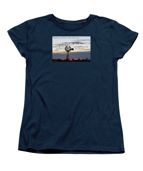 Equal In God's Eye Women's T-Shirt (Standard Cut)