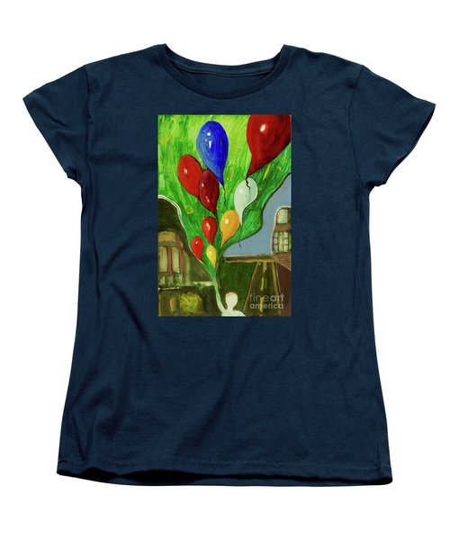 Women's T-Shirt (Standard Cut) featuring the painting Escape by Paul McKey