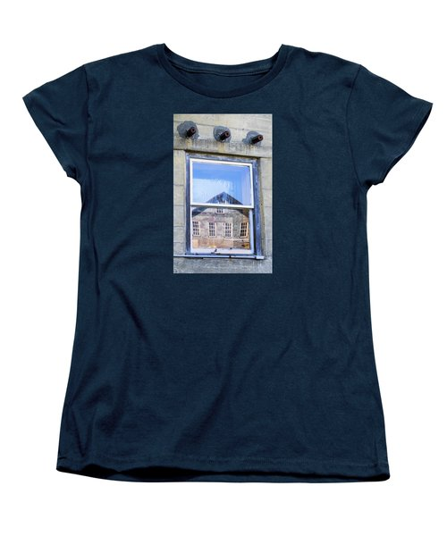 Women's T-Shirt (Standard Cut) featuring the photograph Estey Window Reflection by Tom Singleton